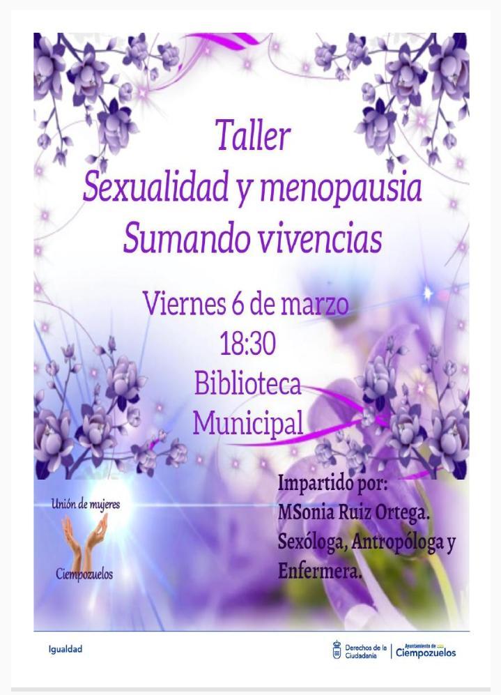 Cartel Sexualidad y Menopausia